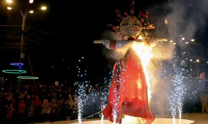 Фото - Пиротехническое чучело Зимы на Масленницу от Didzher Effects